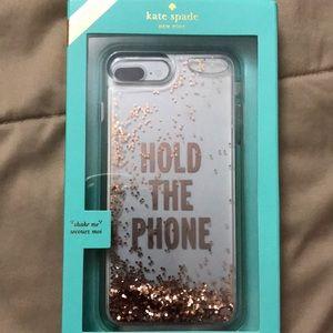 Kate Spade clear liquid glitter iPhone case